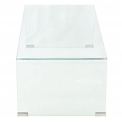 vidaXL Coffee Table Tempered Glass 100x48x33 cm Clear