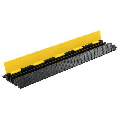 vidaXL Cable Protector Ramps 2 pcs 2 Channels Rubber 101.5 cm