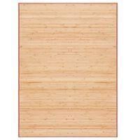 vidaXL Rug Bamboo 160x230 cm Brown