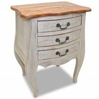 vidaXL Bedside Cabinet Solid Reclaimed Wood 48x35x64 cm