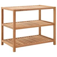 vidaXL Bathroom Shelf Solid Walnut Wood 65x40x55 cm