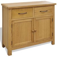 vidaXL Sideboard 90x33,5x83 cm Solid Oak Wood