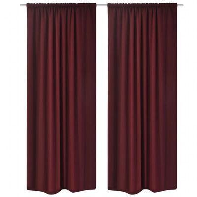 vidaXL Blackout Curtains 2 pcs Double Layer 140 x 245 cm Bordeaux