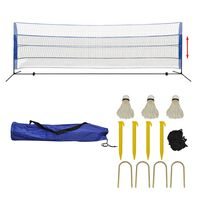 vidaXL Badminton Net Set with Shuttlecocks 500x155 cm