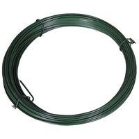 vidaXL Fence Binding Wire 25 m 1.4/2 mm Steel Green