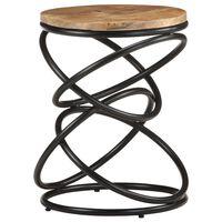 vidaXL End Table 40x40x52 cm Solid Rough Mango Wood