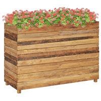 vidaXL Raised Bed 100x40x72 cm Recycled Teak and Steel