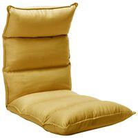 vidaXL Folding Floor Chair Mustard Yellow Fabric