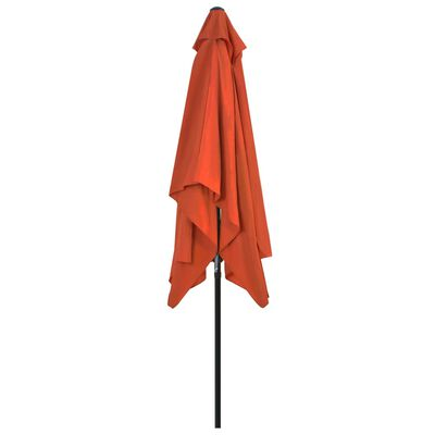 vidaXL Outdoor Parasol with Metal Pole 300x200 cm Terracotta