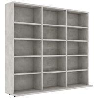 vidaXL CD Cabinet Concrete Grey 102x23x89,5 cm Chipboard