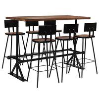 vidaXL Bar Set 7 Piece Solid Reclaimed Wood