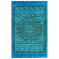 vidaXL Kilim Rug Cotton 160x230 cm with Pattern Turquoise
