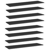 vidaXL Bookshelf Boards 8 pcs High Gloss Black 100x30x1.5 cm Chipboard