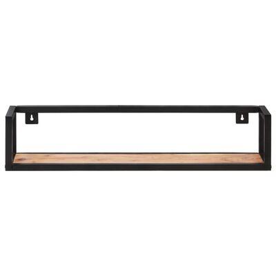 vidaXL Wall Shelves 2 pcs 80 cm Solid Acacia Wood