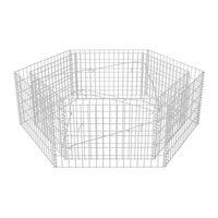 vidaXL Hexagonal Gabion Raised Bed 160x140x50 cm