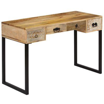 Vidaxl Desk Solid Mango Wood And Real, Mango Wood Desk