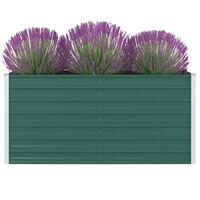 vidaXL Raised Garden Bed 160x80x77 cm Galvanised Steel Green