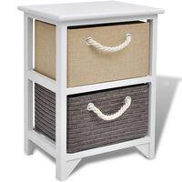 vidaXL Bedside Cabinet Wood