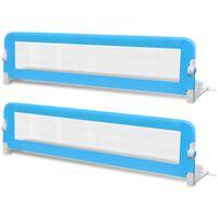 vidaXL Toddler Safety Bed Rail 2 pcs Blue 150x42 cm