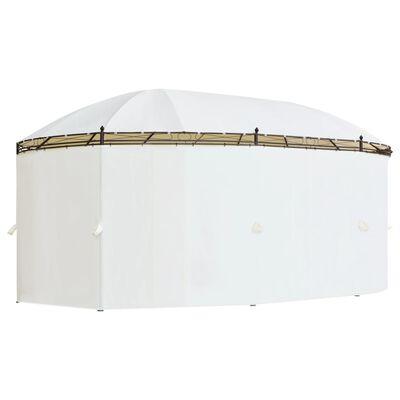 vidaXL Gazebo Cream White 530x350x265 cm
