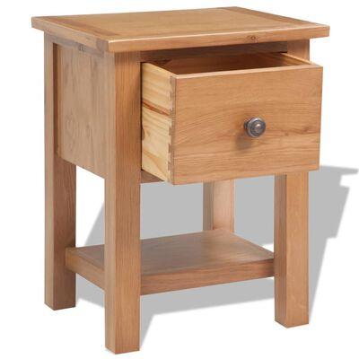 vidaXL Five Piece Living Room Furniture Set Solid Oak