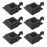 vidaXL Outdoor Solar Lamps 6 pcs LED Square 12 cm Black
