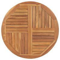vidaXL Table Top Solid Teak Wood Round 2.5 cm 90 cm