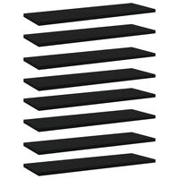 vidaXL Bookshelf Boards 8 pcs Black 60x20x1.5 cm Chipboard