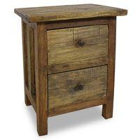 vidaXL Nightstand Solid Reclaimed Wood 40x30x51 cm