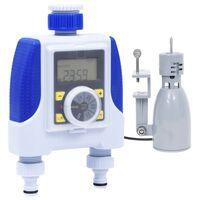 vidaXL Electronic Dual Outlet Water Timer with Rain Sensor