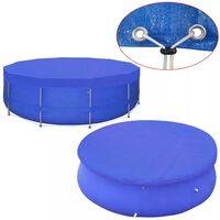 vidaXL Pool Cover PE Round 540 cm 90 g/m?