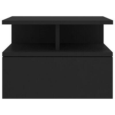 vidaXL Floating Nightstands 2 pcs Black 40x31x27 cm Chipboard