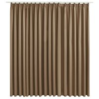 vidaXL Blackout Curtain with Hooks Taupe 290x245 cm