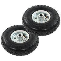 vidaXL Sack Truck Wheels 2 pcs Rubber 4.10/3.50-4