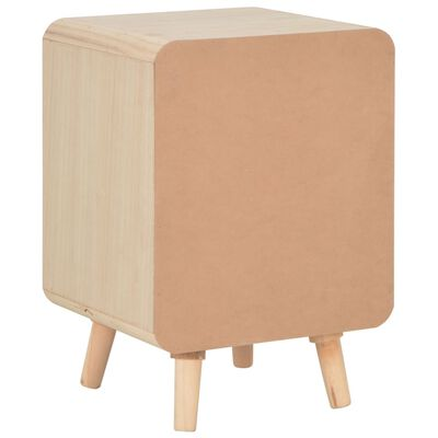 vidaXL Bedside Cabinet with 3 Drawers 40x35x56.5 cm Solid Wood