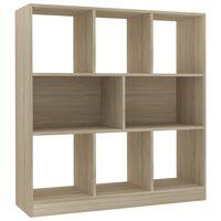 vidaXL Book Cabinet Sonoma Oak 97.5x29.5x100 cm Chipboard