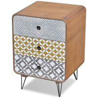 vidaXL Side Cabinet with 3 Drawers Brown