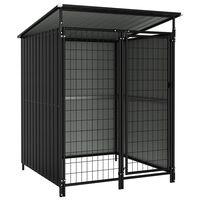 vidaXL Outdoor Dog Kennel 133x133x163 cm