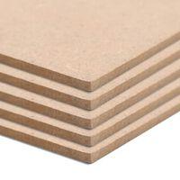 vidaXL 8 pcs MDF Sheets Square 60x60 cm 12 mm