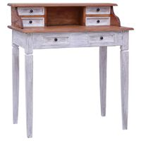 vidaXL Writing Desk with Drawers 90x50x101 cm Solid Reclaimed Wood
