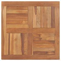 vidaXL Table Top Solid Teak Wood Square 80x80x2.5 cm