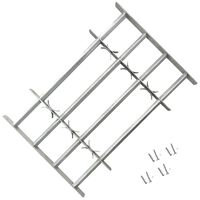 vidaXL Adjustable Security Grille for Windows with 4 Crossbars 500-650mm