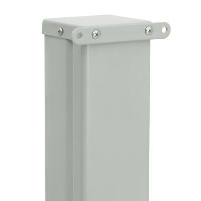 vidaXL Patio Retractable Side Awning 140x500 cm Grey