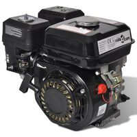 vidaXL Petrol Engine 6.5 HP 4.8 kW Black