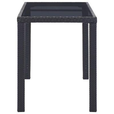 vidaXL Garden Table Black 123x60x74 cm Poly Rattan