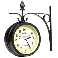 vidaXL Two-sided Wall Clock 20 cm