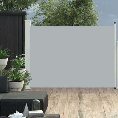 vidaXL Patio Retractable Side Awning 120x500 cm Grey