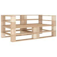 vidaXL Garden Pallet Sofa 2-Seater Wood
