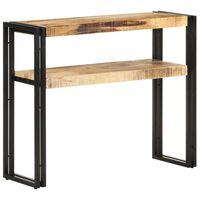 vidaXL Console Table 90x30x75 cm Rough Mango Wood