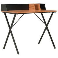 vidaXL Desk Black and Brown 80x50x84 cm